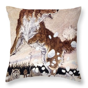 Call Of The Wild Throw Pillow by Granger