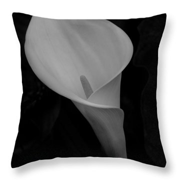 Calla Blossom Throw Pillow