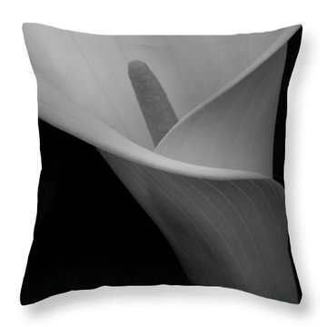 Calla Blossom Tight Crop Throw Pillow