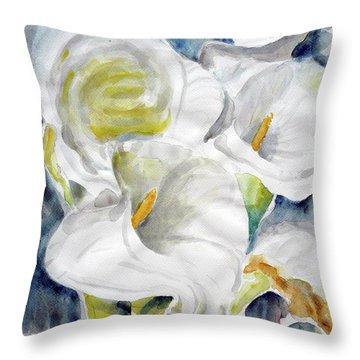 Calla Throw Pillow by Jasna Dragun