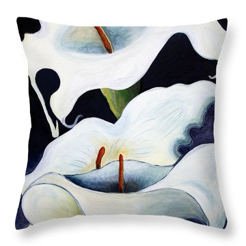 Calla Lilies.. Throw Pillow