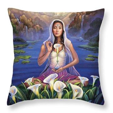 Calla Lily - Be Still Throw Pillow