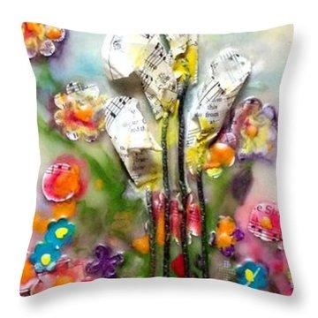 Calla Lily Dance Throw Pillow