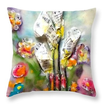 Calla Lily Dance Throw Pillow