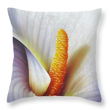 Calla Lily Throw Pillow by Jurek Zamoyski