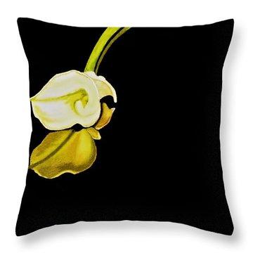 Calla Lily Reflection Throw Pillow