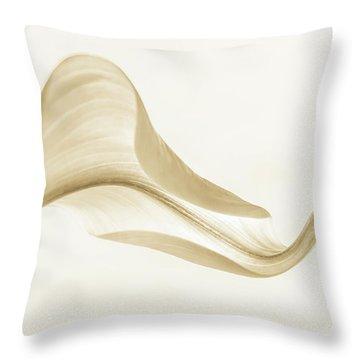 Callacurves In Sepia Throw Pillow