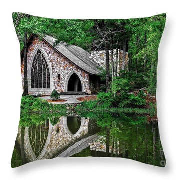 Callaway Gardens Ida Cason Chapel Throw Pillow
