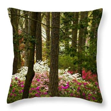 Callaway Gardens Spring Azaleas Throw Pillow