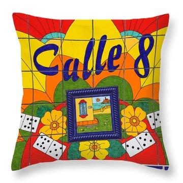Calle Ocho Throw Pillow
