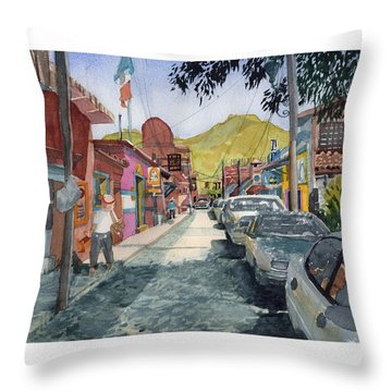Calle Turistica Mx Throw Pillow