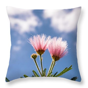 Calliandra Flowers Throw Pillow by Lana Enderle