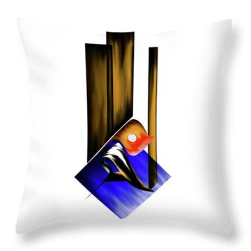 Throw Pillow featuring the painting Calligraphy 102 1 by Mawra Tahreem