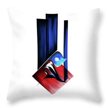 Throw Pillow featuring the painting Calligraphy 102 2 by Mawra Tahreem