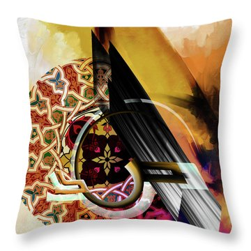 Throw Pillow featuring the painting Calligraphy 103 1 1 by Mawra Tahreem