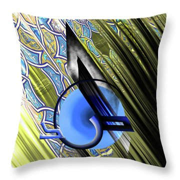 Throw Pillow featuring the painting Calligraphy 103 4 by Mawra Tahreem