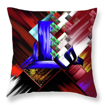 Throw Pillow featuring the painting Calligraphy 105 3 by Mawra Tahreem