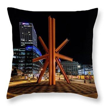 Throw Pillow featuring the photograph Calling After Sundown by Randy Scherkenbach