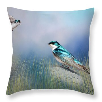 Calling His Mate Throw Pillow