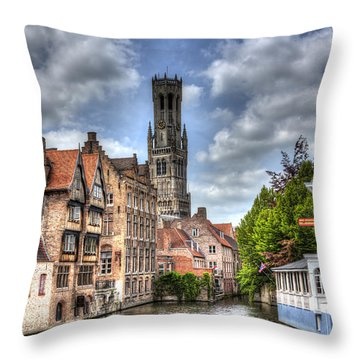 Calm Afternoon In Bruges Throw Pillow by Shawn Everhart