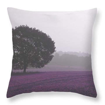 Calm Autumn Mist Throw Pillow