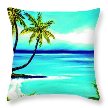 Calm Bay #53 Throw Pillow by Donald k Hall