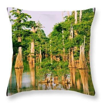Calm Bayou Throw Pillow