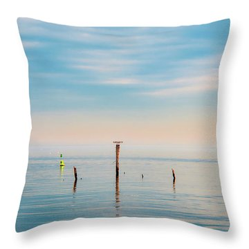 Throw Pillow featuring the photograph Calm Bayshore Morning N0 3 by Gary Slawsky