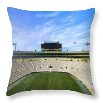 Throw Pillow featuring the photograph Calm Before The Game by Joel Witmeyer