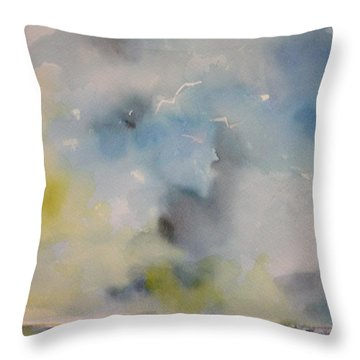 Calm Before The Storm #1 Throw Pillow by Robin Miller-Bookhout