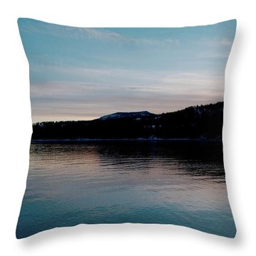 Calm Blue Lake Throw Pillow