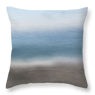 Calm Coast 2-  Art By Linda Woods Throw Pillow