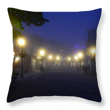 Calm In The Streets Throw Pillow