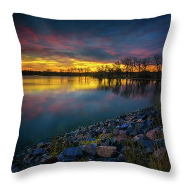 Throw Pillow featuring the photograph Calm by John De Bord
