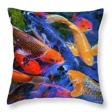 Calm Koi Fish Throw Pillow