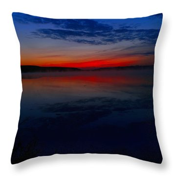 Calm Of Early Morn Throw Pillow by Jeff Swan