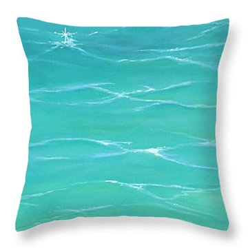 Throw Pillow featuring the painting Calm Reflections II by Mary Scott