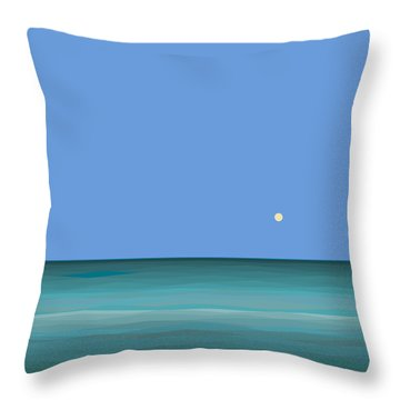 Throw Pillow featuring the digital art Calm Sea - Square by Val Arie