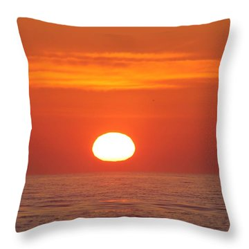 Calm Seas Sunrise Throw Pillow by Robert Banach