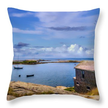 Calm Summer Day In Prospect Throw Pillow