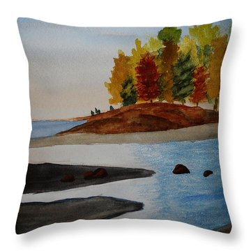 Calm Tide Throw Pillow