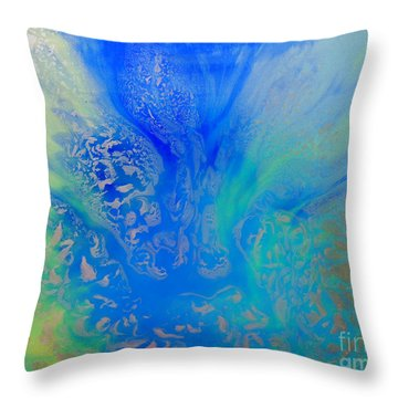 Calm Waters Abstract Throw Pillow
