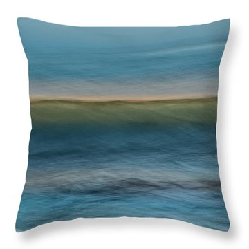 Calming Blue Throw Pillow