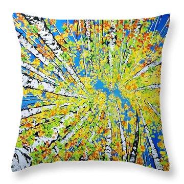 Calming Canopy Throw Pillow