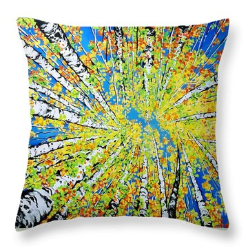 Calming Canopy Throw Pillow by Jackie Carpenter