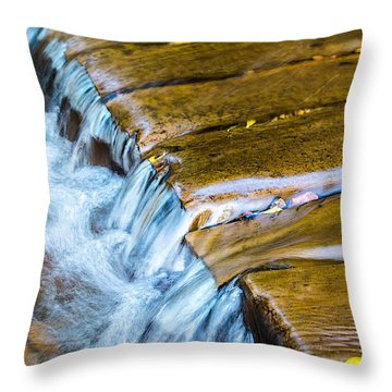 Throw Pillow featuring the photograph Calming Cascade by Rhys Arithson