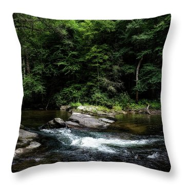 Calming Rapids Throw Pillow
