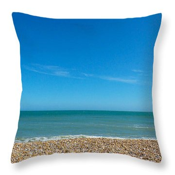 Calming Seaside View Throw Pillow