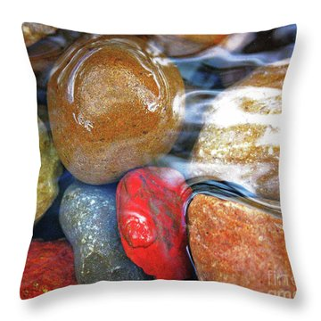 Calming Stones Throw Pillow
