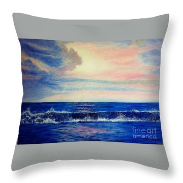 Calming Wave Throw Pillow